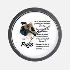 Pug Your Friend Wall Clock