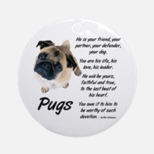 Pug Your Friend Ornament (Round)
