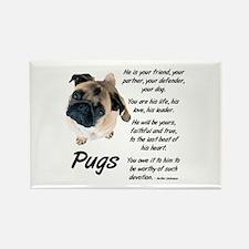 Pug Your Friend Rectangle Magnet