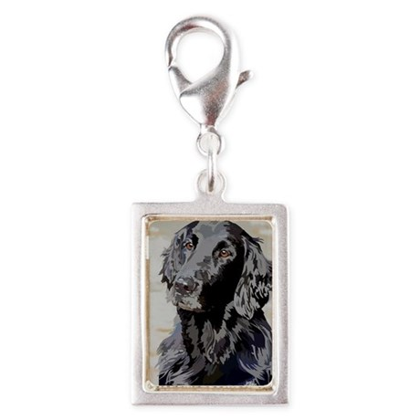 Flat Coated Retriever Silver Portrait Charm