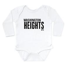 Washington Heights NYC Long Sleeve Infant Bodysuit