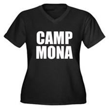 Camp Mona Women's Plus Size V-Neck Dark T-Shirt