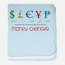 Money Changer baby blanket