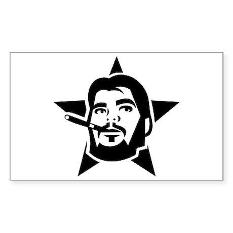 Che Guevara Smoking Star Sticker (Rectangle)
