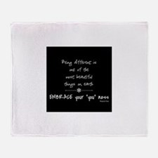 Being Different Throw Blanket