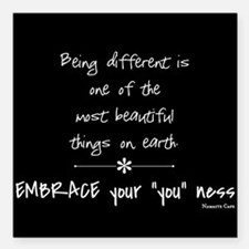 "Being Different Square Car Magnet 3"" x 3"""