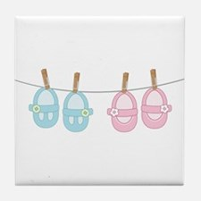 Baby Shoes Tile Coaster
