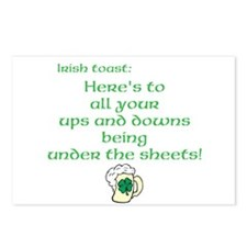 Irish Toast to ups and downs Postcards (Package of