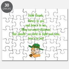 Heres to you and me Irish toast Puzzle