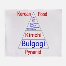 Korean Food Pyramid Throw Blanket