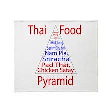 Thai Food Pyramid Throw Blanket