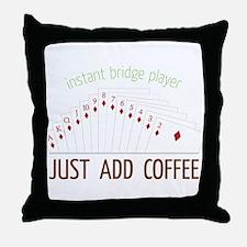 Instant Bridge Player Throw Pillow