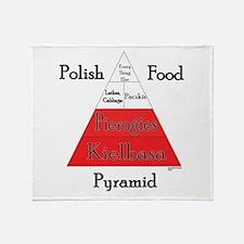 Polish Food Pyramid Throw Blanket