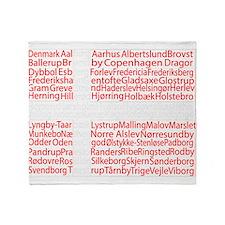Danish Cities Flag Throw Blanket