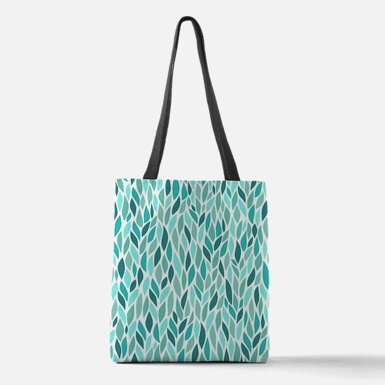 Mosaic Pattern Polyester Tote Bag