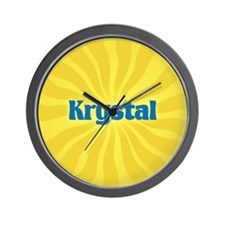 Krystal Sunburst Wall Clock