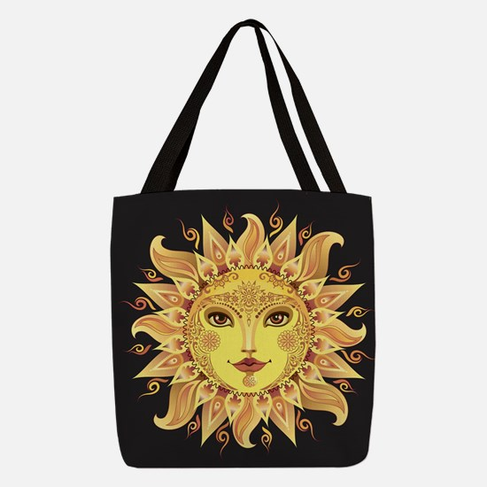 Stylish Sun Polyester Tote Bag