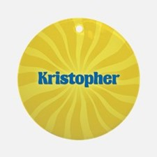 Kristopher Sunburst Ornament (Round)