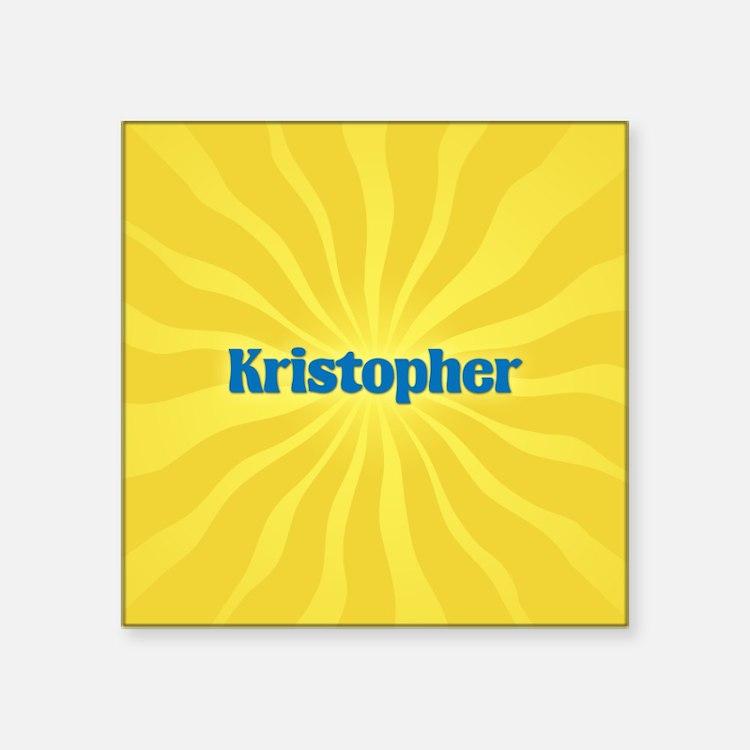 "Kristopher Sunburst Square Sticker 3"" x 3"""
