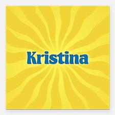 """Kristina Sunburst Square Car Magnet 3"""" x 3"""""""