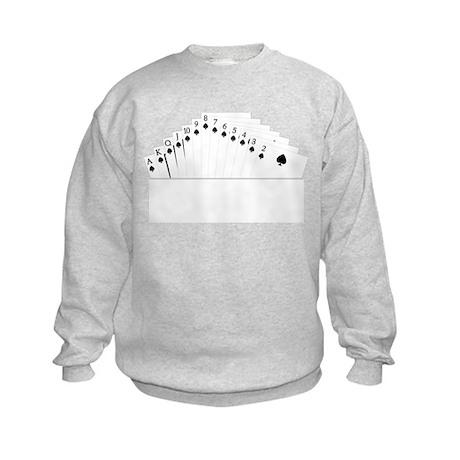 Bidding Bridge Suit Kids Sweatshirt