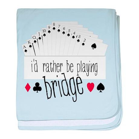 Playing Bridge baby blanket