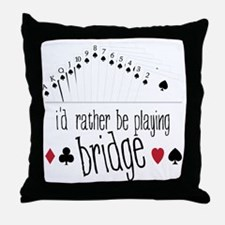 Playing Bridge Throw Pillow