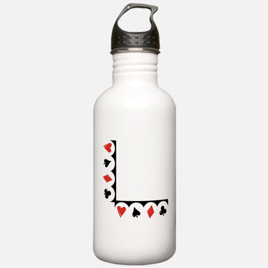 Playing Cards Corner Water Bottle