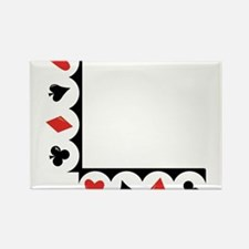 Playing Cards Corner Rectangle Magnet