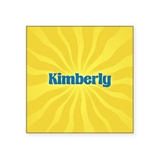 "Kimberly Sunburst Square Sticker 3"" x 3"""
