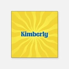 "Kimberly Sunburst Square Sticker 3"" x 3"""