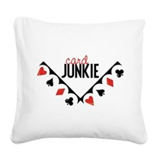 Card Junkie Square Canvas Pillow