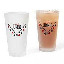 Card Junkie Drinking Glass
