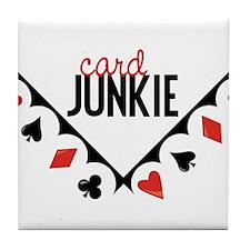 Card Junkie Tile Coaster