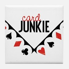 Card Junkie Tile Coaster