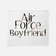 AF BF Camo Throw Blanket