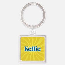 Kellie Sunburst Square Keychain