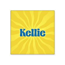 "Kellie Sunburst Square Sticker 3"" x 3"""