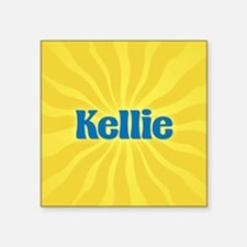 "Kellie Sunburst Square Sticker 3"" x 3"""