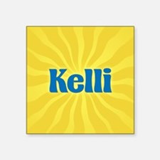 "Kelli Sunburst Square Sticker 3"" x 3"""