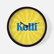 Kelli Sunburst Wall Clock