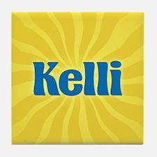 Kelli Sunburst Tile Coaster