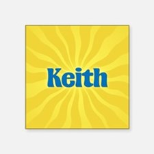 "Keith Sunburst Square Sticker 3"" x 3"""