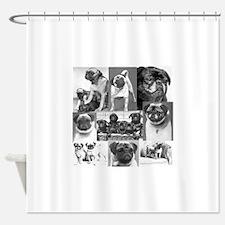 Vintage Pugs Shower Curtain