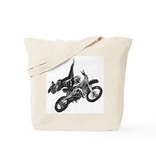Freestyling on a dirt bike Tote Bag