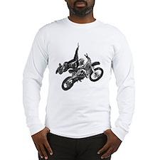 Freestyling on a dirt bike Long Sleeve T-Shirt