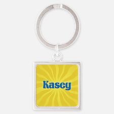 Kasey Sunburst Square Keychain