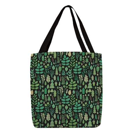 Forest Pattern Polyester Tote Bag