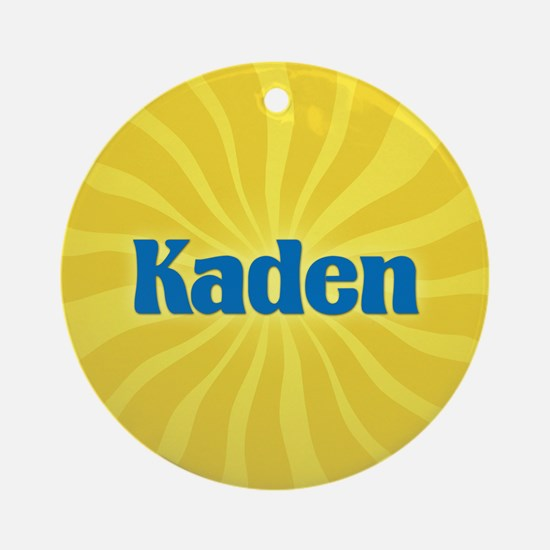 Kaden Sunburst Ornament (Round)