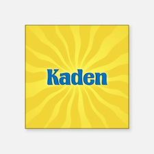 """Kaden Sunburst Square Sticker 3"""" x 3"""""""